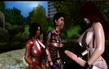 3D futa threesome