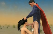 Superman Fucks Wonder Woman In The Desert