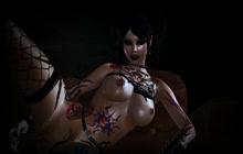 Hot Tattooed Babe Masturbates