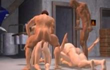 Hot 3D sex orgy