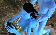 Avatar babe ass fucked by huge blue cock